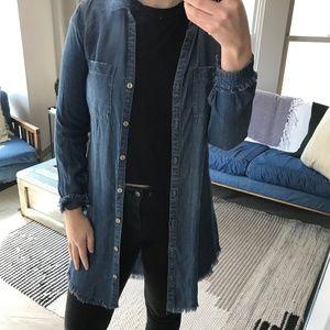 cloth & stone chambray dress/jacket